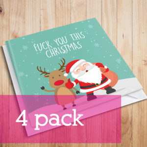 fuck you this christmas with santa 4pack